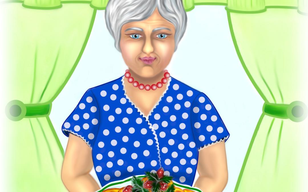 "Иллюстрация к стиху ""Моя бабушка"""