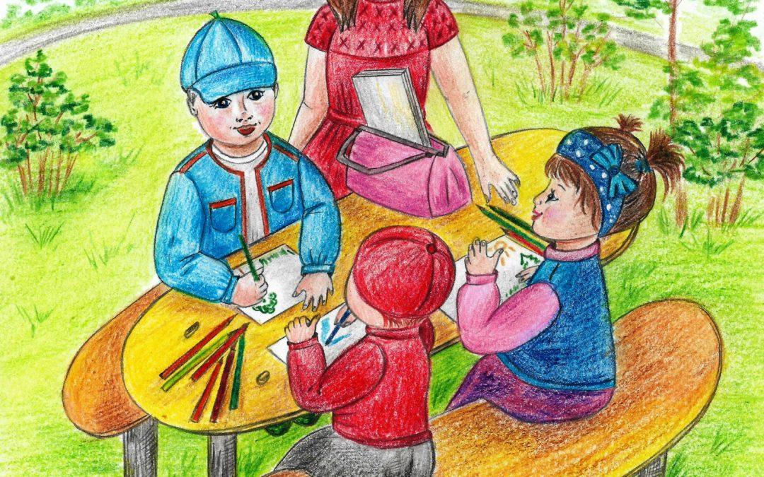 интересные стихи для детей иллюстрация