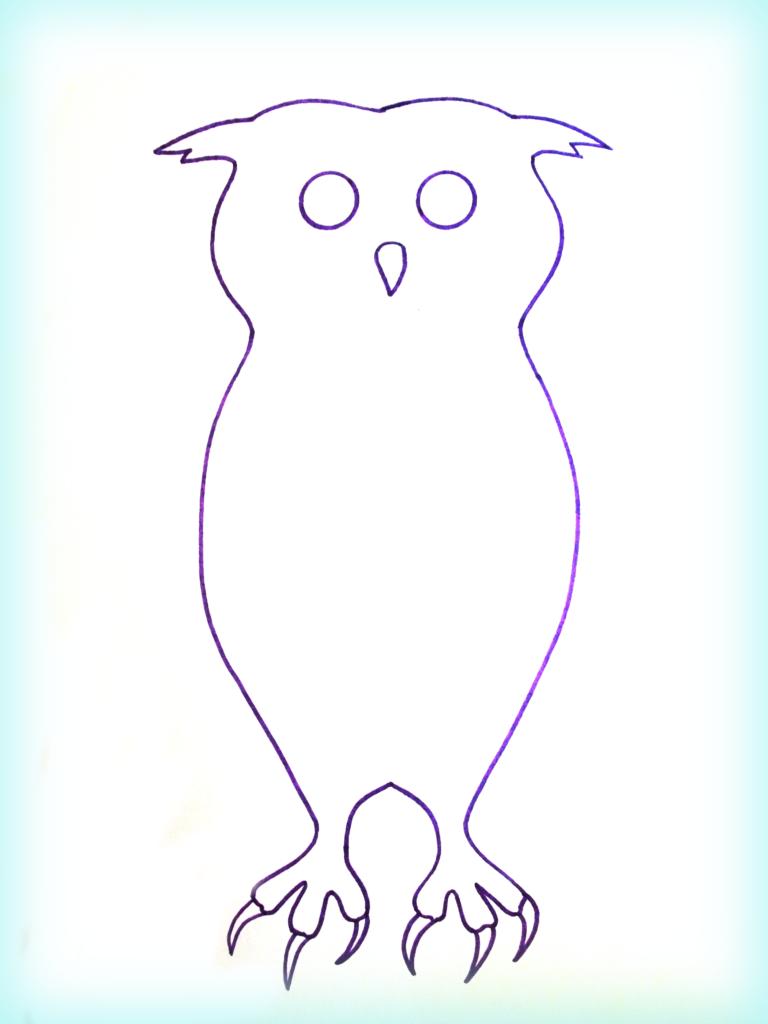 мудрая сова аппликация 2