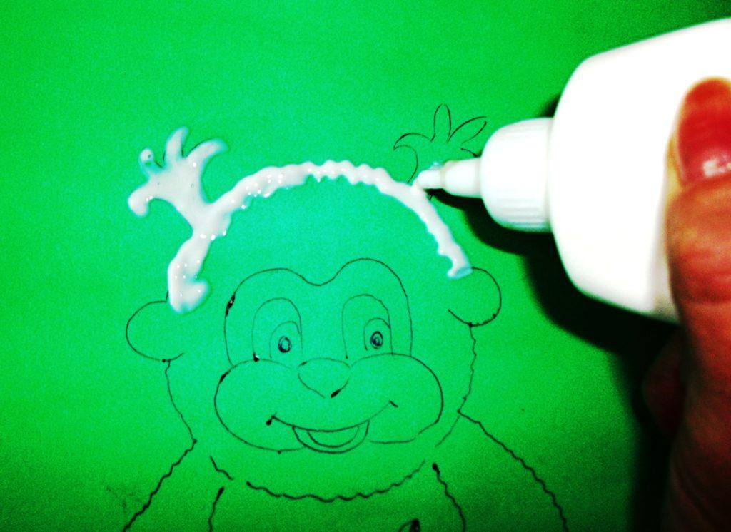 аппликация обезьянка 4