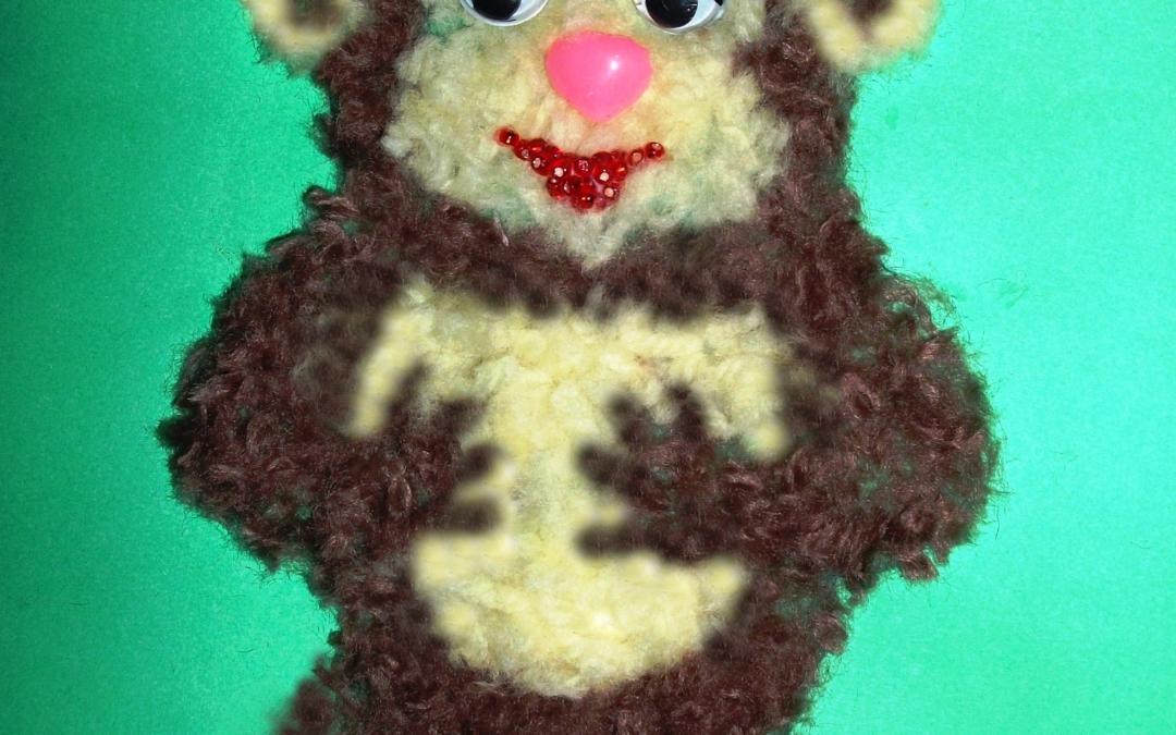 аппликация обезьянка 8