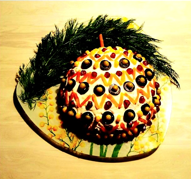 салат елочная игрушка фото
